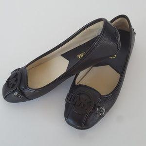 NEW Never Worn Michael Kors Black Leather Flats